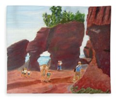 Hopewell Rocks2 Fleece Blanket