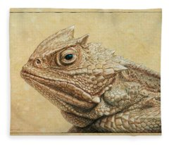 Horned Toad Fleece Blanket