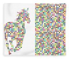 Horse 2 Fleece Blanket