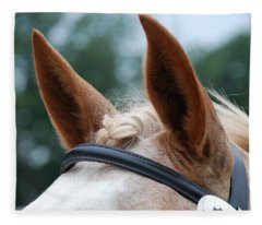 Horse At Attention Fleece Blanket