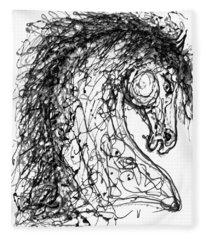 Horse  Dripped Abstract Pollock Style On #fineartamerica Fleece Blanket