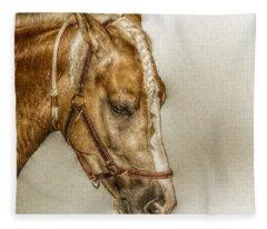 Horse Head Portrait Fleece Blanket