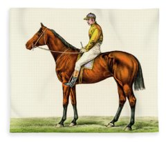 Horse Jockey Fleece Blanket