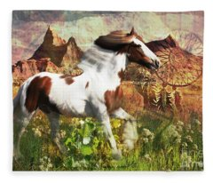 Horse Medicine 2015 Fleece Blanket