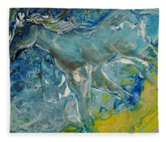 Horse Of A Different Color Fleece Blanket