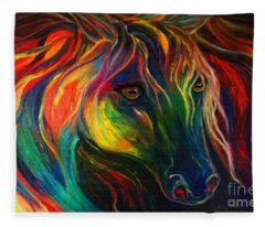 Horse Of Hope Fleece Blanket