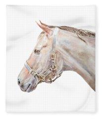 Horse Portrait I Fleece Blanket