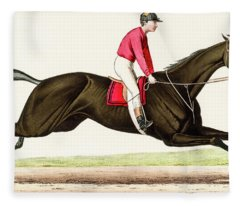 Horse Race Fleece Blanket