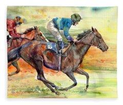 Horse Races Fleece Blanket