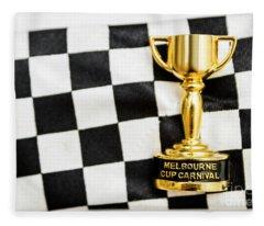 Horse Races Trophy. Melbourne Cup Win Fleece Blanket