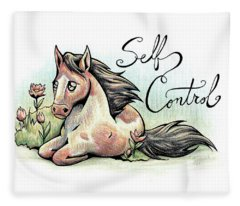 Fruit Of The Spirit Self Control Fleece Blanket