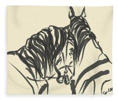 Horse - Together 9 Fleece Blanket