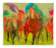 Horse Tracking Fleece Blanket