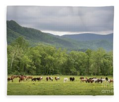 Horses Abound Fleece Blanket