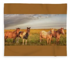 Horses At Kalae Fleece Blanket
