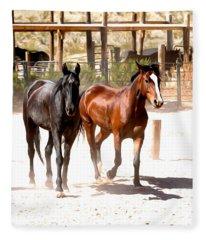 Horses Unlimited_6a Fleece Blanket