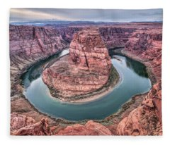 Fleece Blanket featuring the photograph Horseshoe Bend Arizona by Todd Aaron