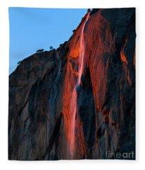 Horsetail Falls 2016 Fleece Blanket