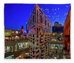 Horton Plaza Shopping Center Fleece Blanket