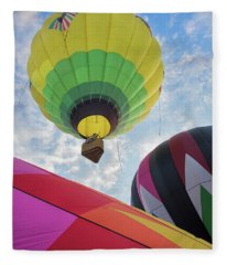 Hot Air Balloon Takeoff Fleece Blanket