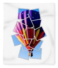 Hot Air Ballooning Tee Fleece Blanket