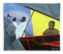 Hot And Cool Jazz Fleece Blanket