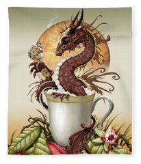 Hot Chocolate Dragon Fleece Blanket