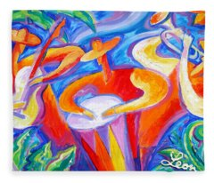 Hot Latin Jazz Fleece Blanket