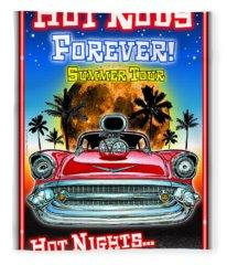 Hot Rods Forever Summer Tour Fleece Blanket
