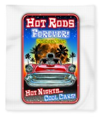 Hot Rods Forever Summer Tour Fleece Blanket