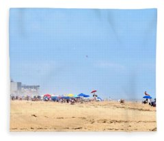 Hot Summer At The Beach Fleece Blanket