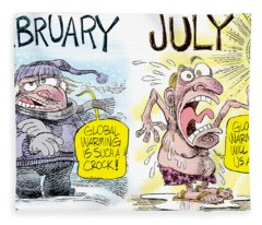 Hot Summer Global Warming Fleece Blanket