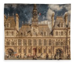 Paris, France - Hotel De Ville Fleece Blanket