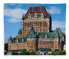 Chateau Frontenac In Quebec City Fleece Blanket