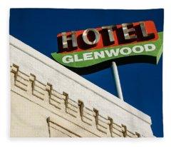 Hotel Glenwood Tucson Arizona By Gene Martin Fleece Blanket