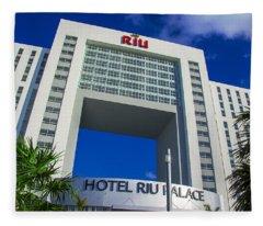 Hotel Riu Palace In Cancun Fleece Blanket