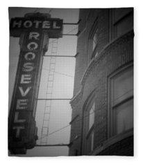 Hotel Roosevelt Fleece Blanket