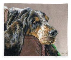Hound Dog Fleece Blanket