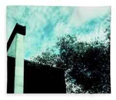 House And Sky Fleece Blanket