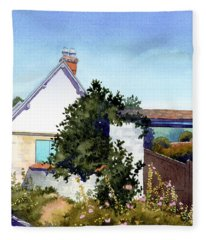 House At Giverny Fleece Blanket