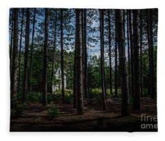 House In The Pines Fleece Blanket