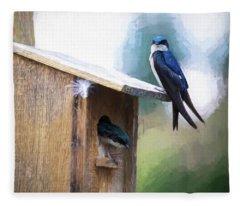 House Of Bluebirds Fleece Blanket