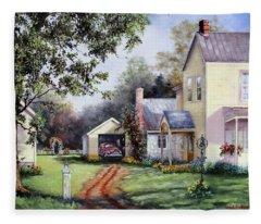House On Bird Street Fleece Blanket