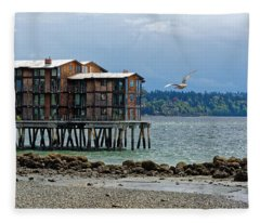 House On Stilts Fleece Blanket