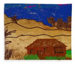 House On The Hill - Banana Peel Art Fleece Blanket