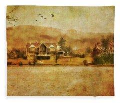 House On The Lake Fleece Blanket
