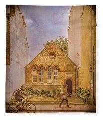 Oxford, England - House On Walton Street Fleece Blanket