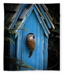 House Wren Fleece Blanket