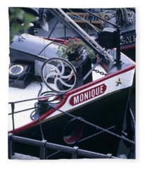 Houseboat In France Fleece Blanket