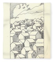 Houses Fleece Blanket